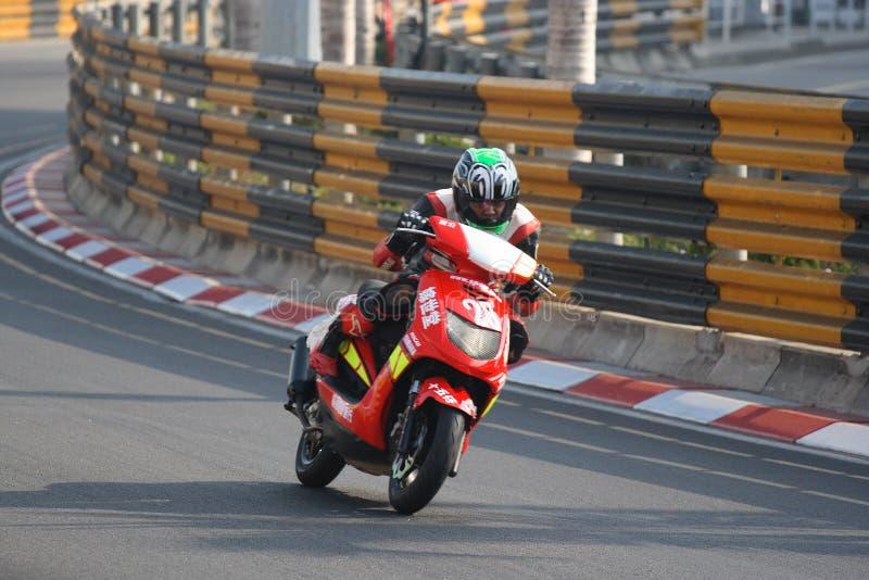 5ème Pratique en matière B de temps d'â de cuvette de scooters de MGPC photo libre de droits