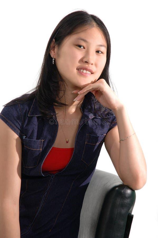 5个亚洲人女孩 免版税图库摄影