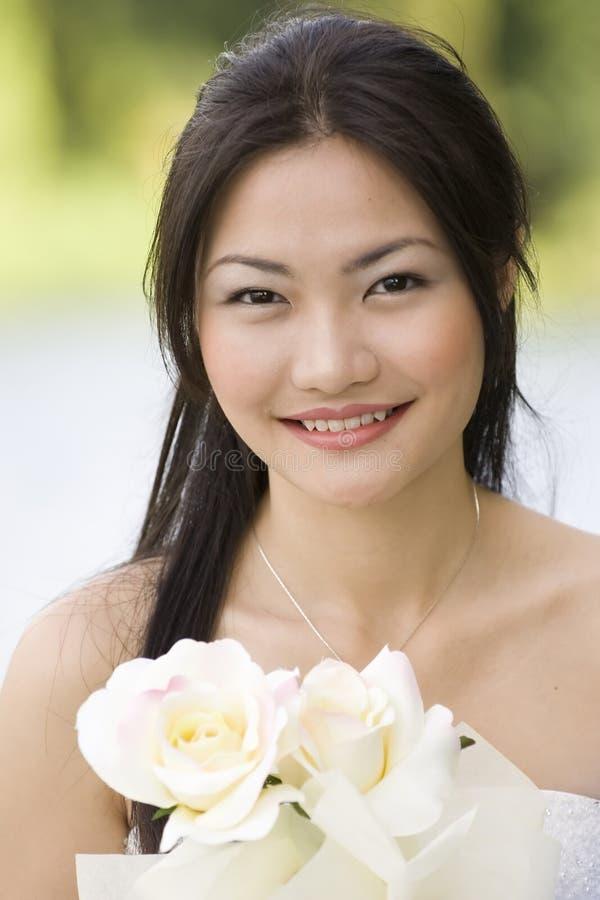 5个亚洲人新娘 免版税图库摄影