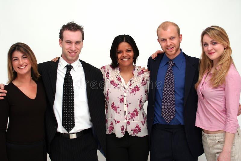 5个商人小组年轻人 免版税图库摄影