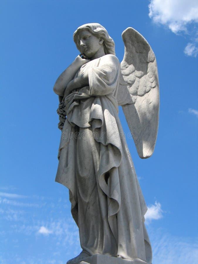 5个天使雕象 免版税库存照片