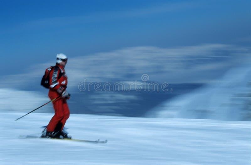 5个活动滑雪者 图库摄影