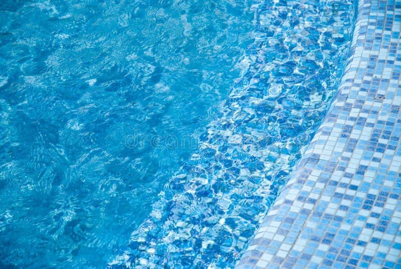 5个背景蓝色池 库存照片