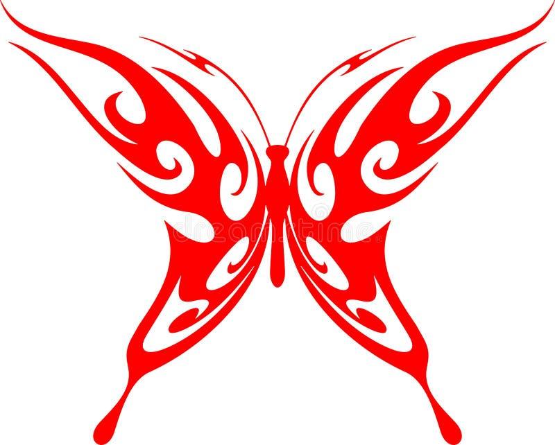 5只蝴蝶火焰状部族向量 皇族释放例证