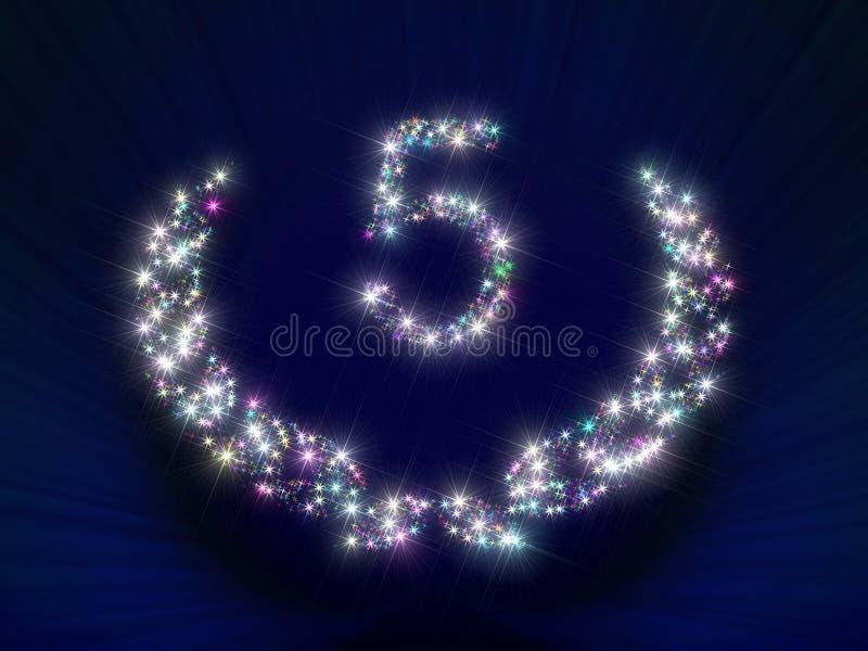 5周年纪念编号星形 皇族释放例证