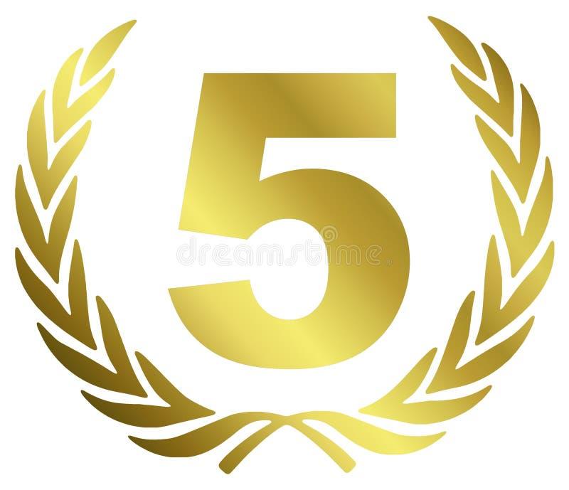 5周年纪念 皇族释放例证