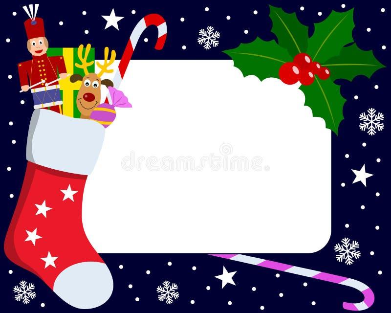 5圣诞节框架照片 向量例证