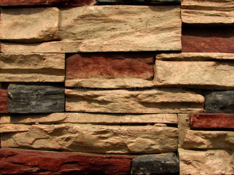 5块砖模式石墙 库存图片