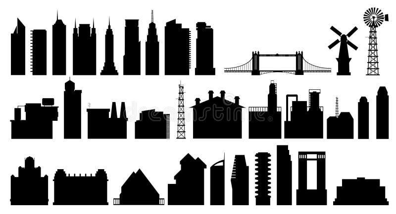 5城市 向量例证