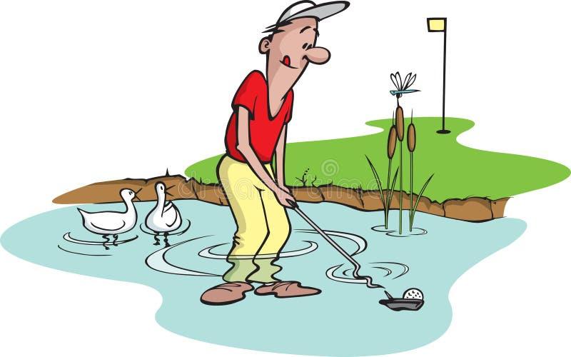 5愚蠢的高尔夫球运动员 向量例证