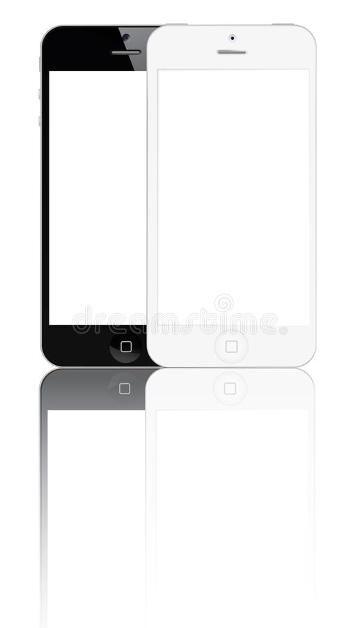 5新的iphone 向量例证