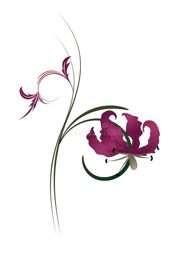 5花卉抽象背景 免版税图库摄影