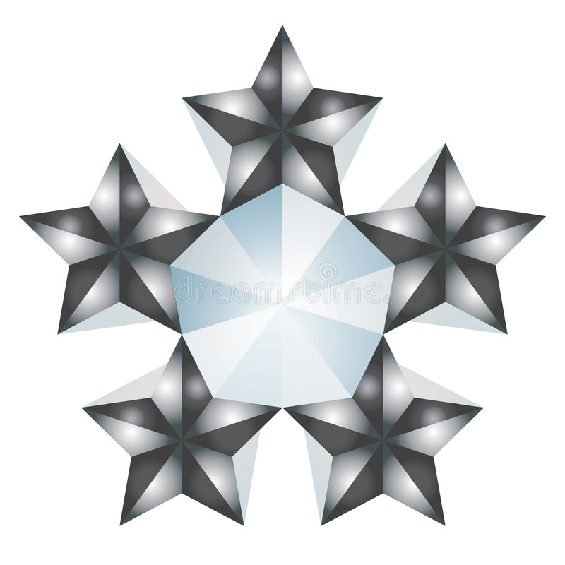 5 étoiles illustration stock