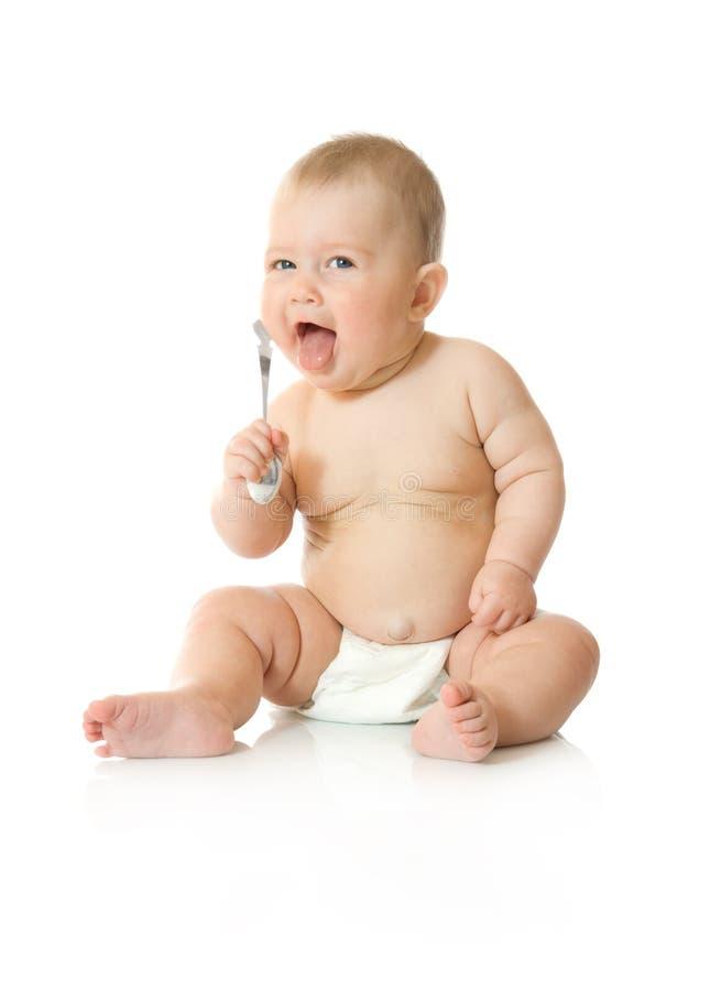 5 απομονωμένο μωρό μικρό κουτάλι παιχνιδιού στοκ εικόνες με δικαίωμα ελεύθερης χρήσης