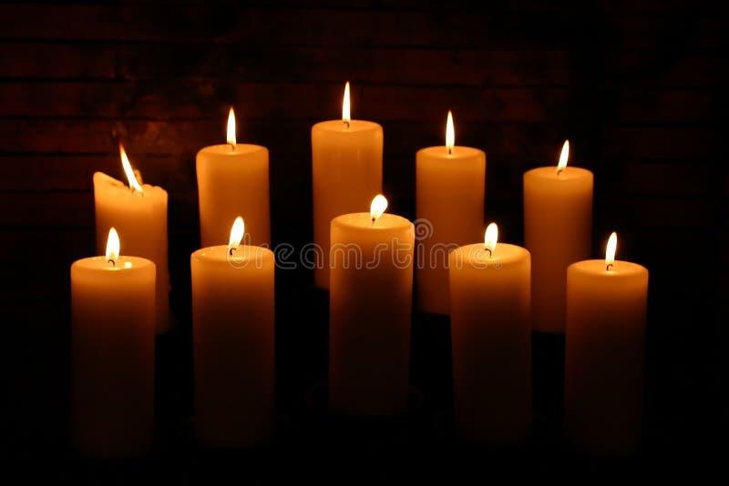 5 κεριά στοκ εικόνες