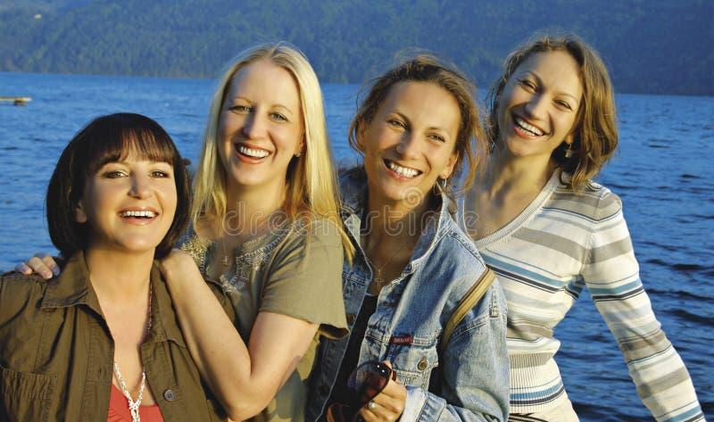 5 κορίτσια στοκ εικόνα