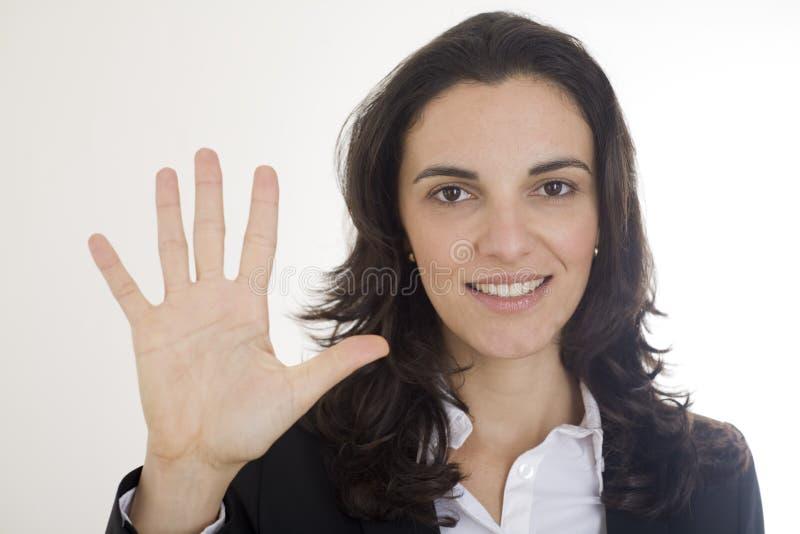 5 μετρώντας αριθμός στοκ φωτογραφία με δικαίωμα ελεύθερης χρήσης