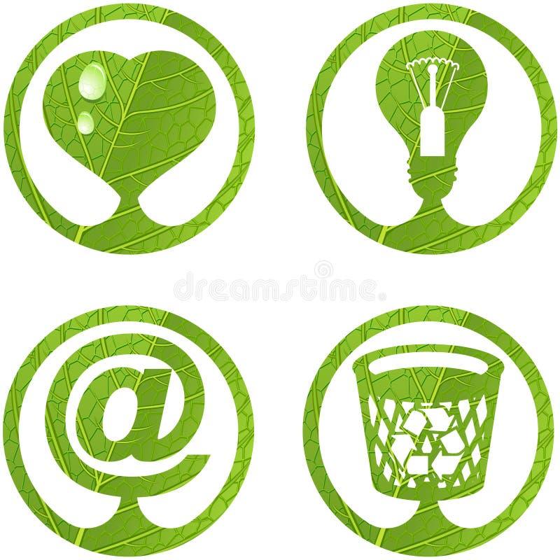 5 σημάδια συνόλου eco ελεύθερη απεικόνιση δικαιώματος