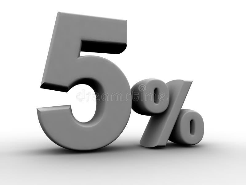 5 τοις εκατό διανυσματική απεικόνιση