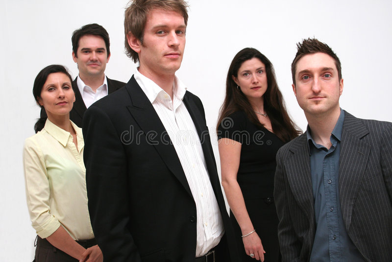 5 бизнесменов команды стоковое изображение