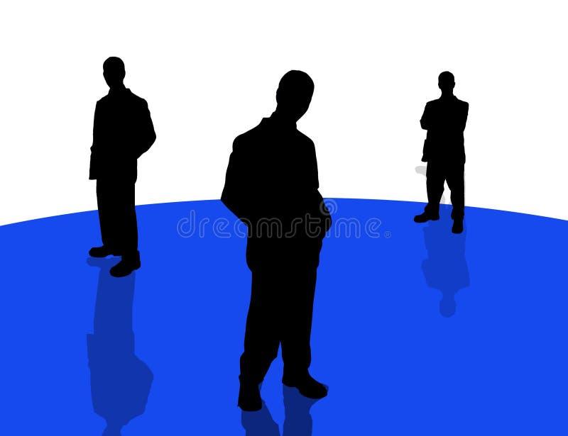 5 бизнесменов теней Стоковое Изображение