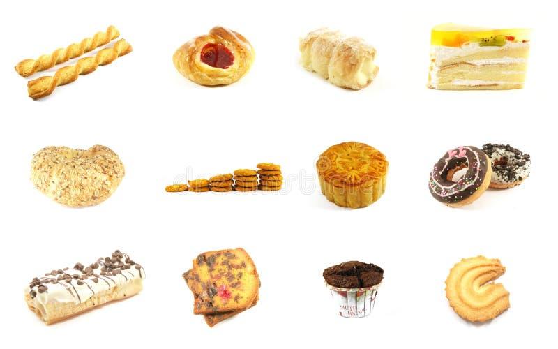 5 испеченных серий товаров стоковое изображение rf