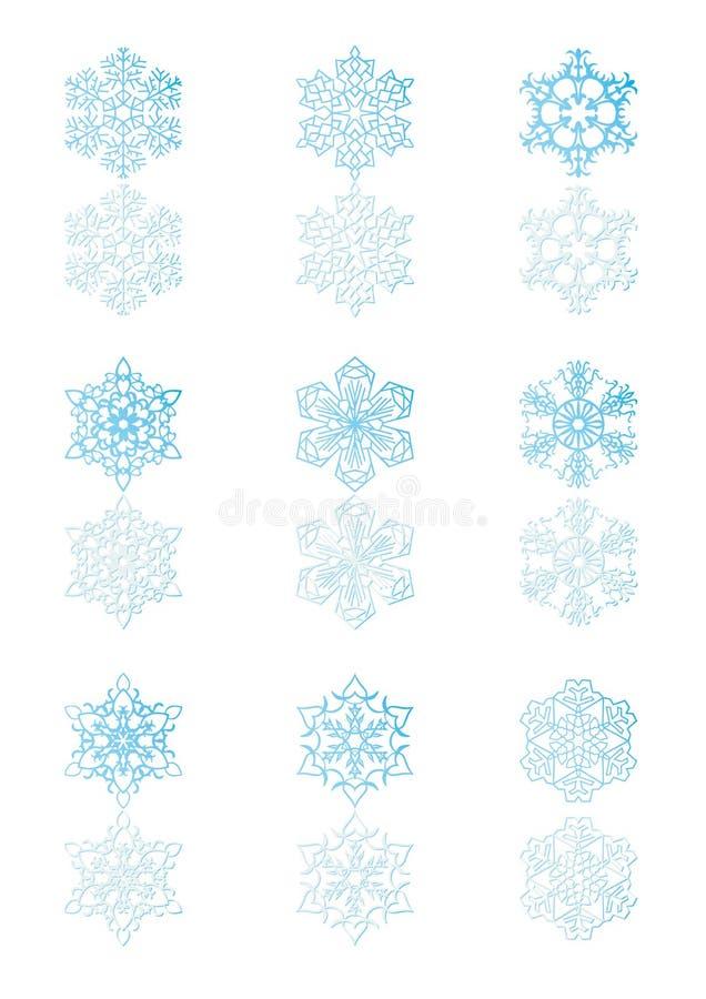 5 снежинок иллюстрация штока