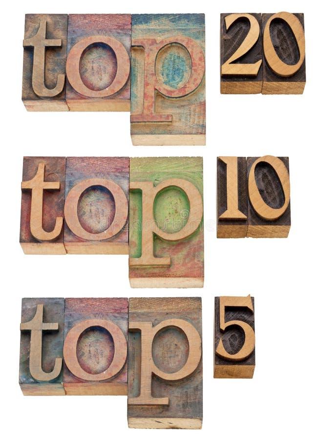 5 10 20顶层 免版税库存照片