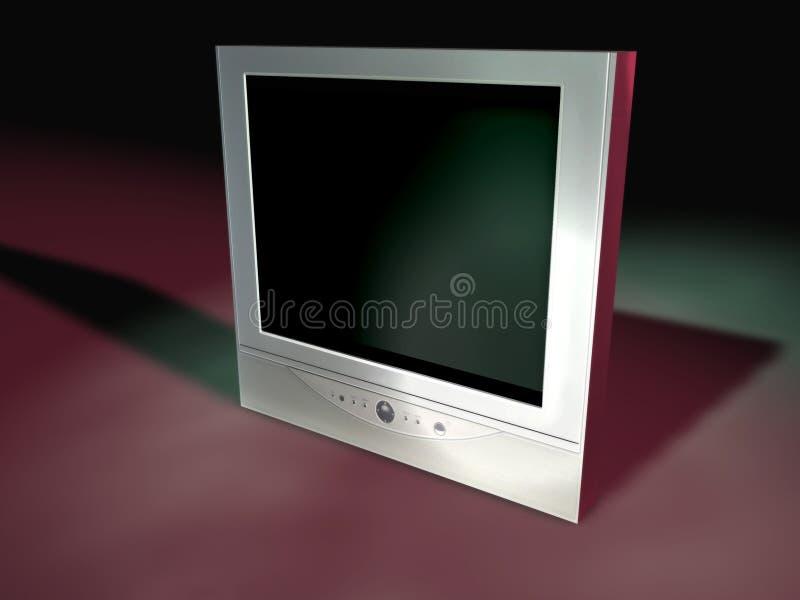 5个平面式屏幕电视 皇族释放例证