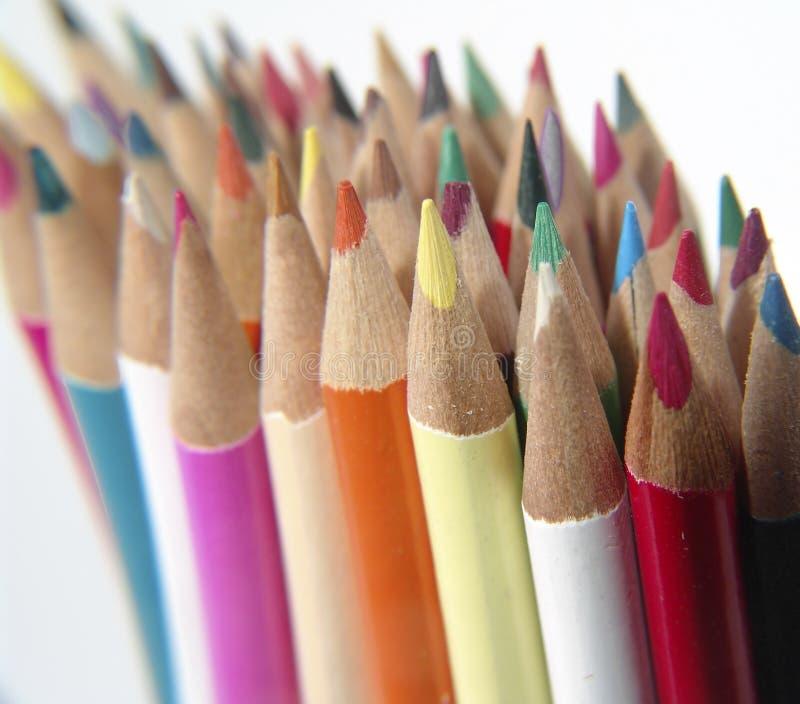 5支色的铅笔 库存图片