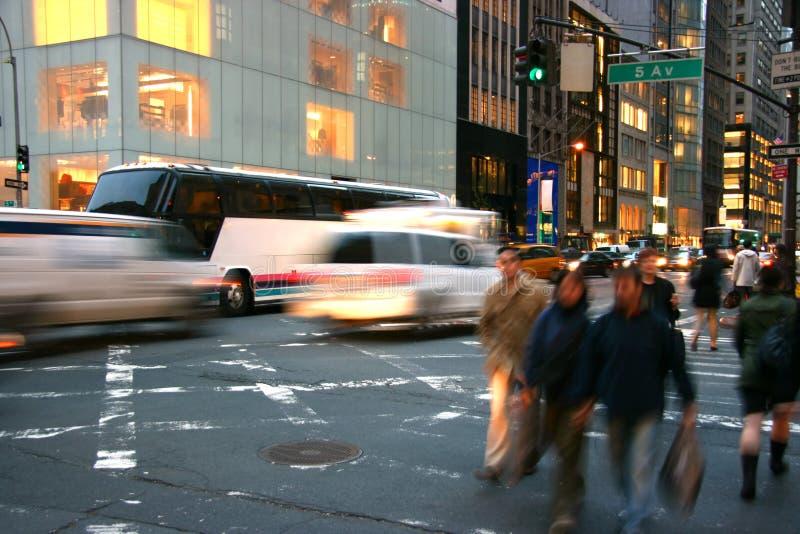 5 avenue Manhattan, nowy jork fotografia royalty free