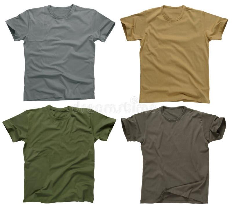 5 blanka skjortor t royaltyfria bilder