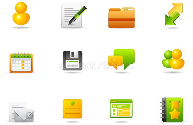 5 blogging установленных philos интернета икон бесплатная иллюстрация