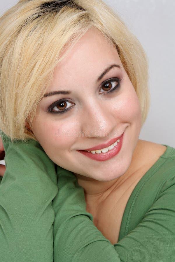 5 blondynki piękny headshot zdjęcia royalty free