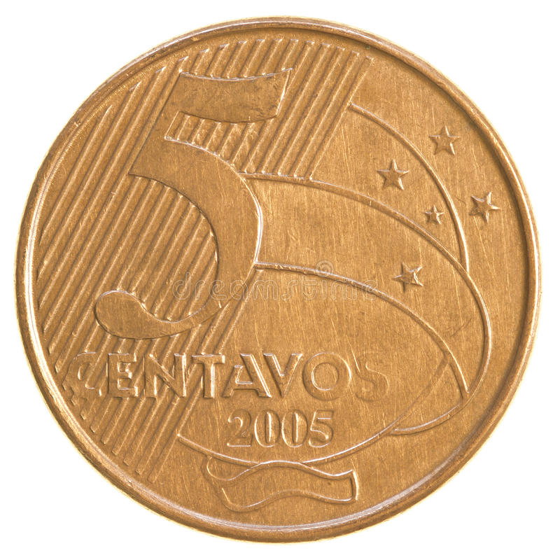 Free 5 Brazilian Real Centavos Coin Stock Image - 89704841