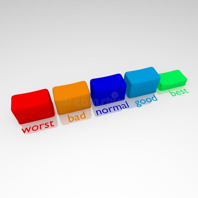 5 buttons with good pressed royalty free stock image
