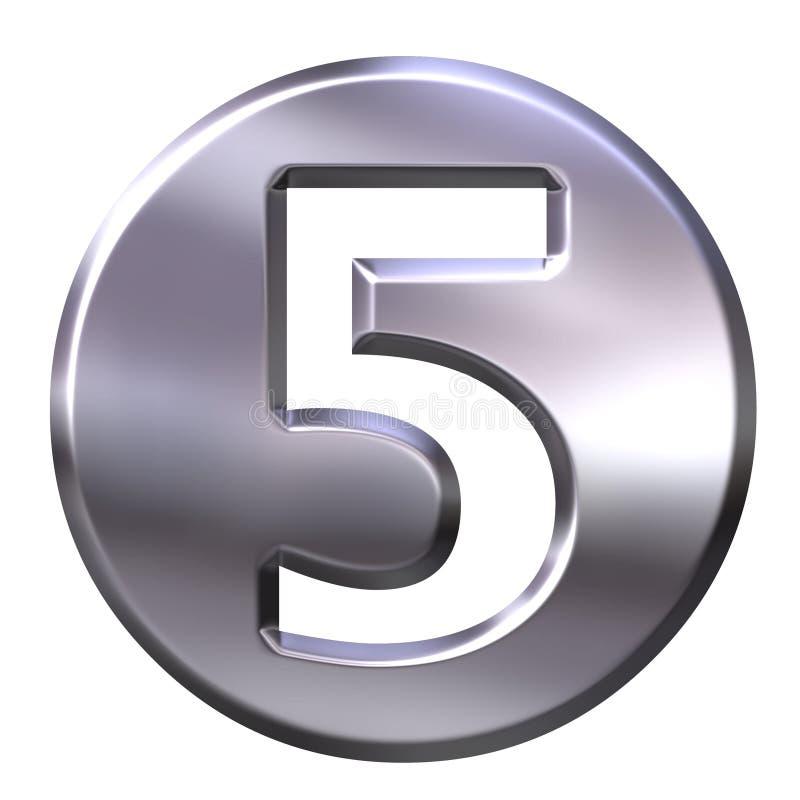 5 być obramowane liczby srebra ilustracji