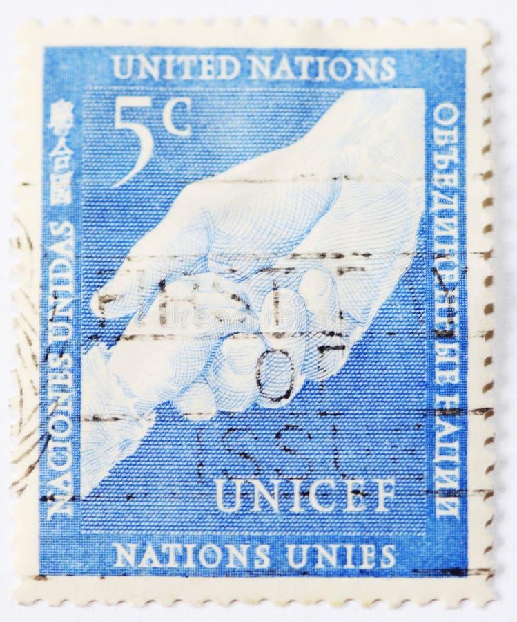 5 ct邮票unicef 库存照片