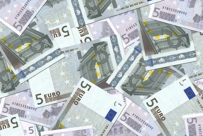 5 de euro Textuur van Nota's royalty-vrije stock foto