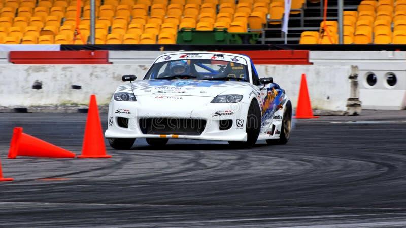 5 dryftowy dryfujący formuły Mazda mx obraz stock