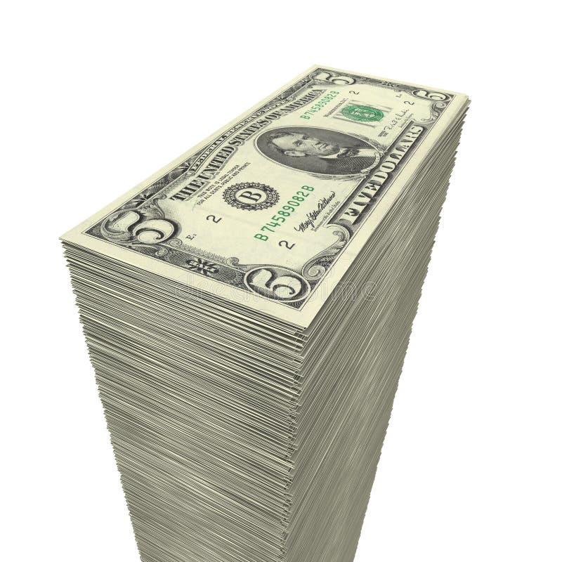 5 duży zbliżenia dolarowy pieniądze notatek stos zdjęcie royalty free