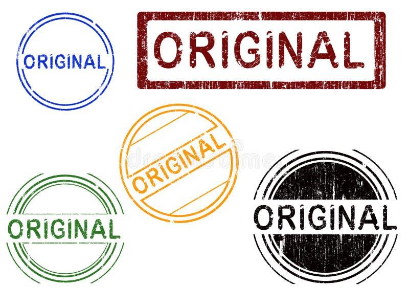 5 effect Grunge de ORIGINELE Zegels van het Bureau - royalty-vrije illustratie