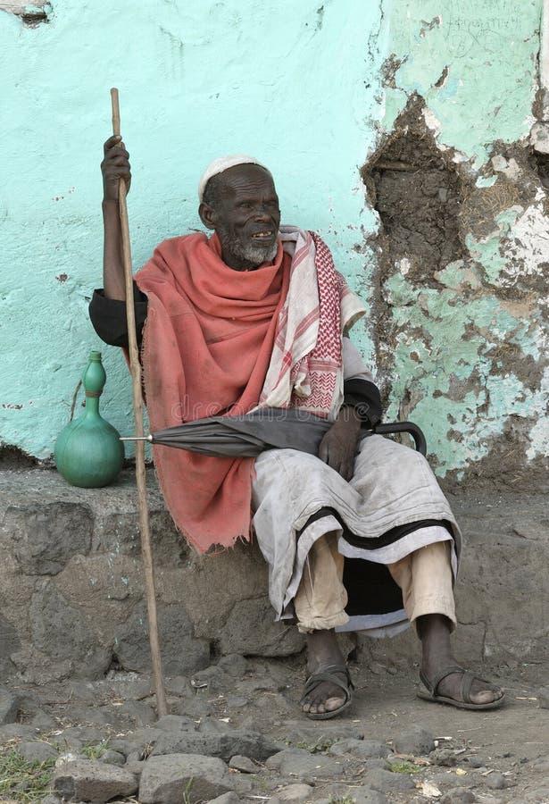 5 ethiopian folk royaltyfri bild