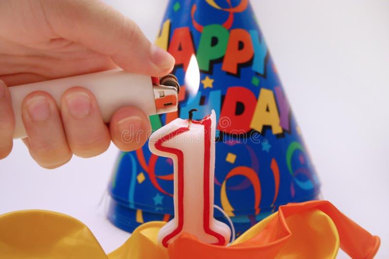 5 födelsedag plats royaltyfri fotografi