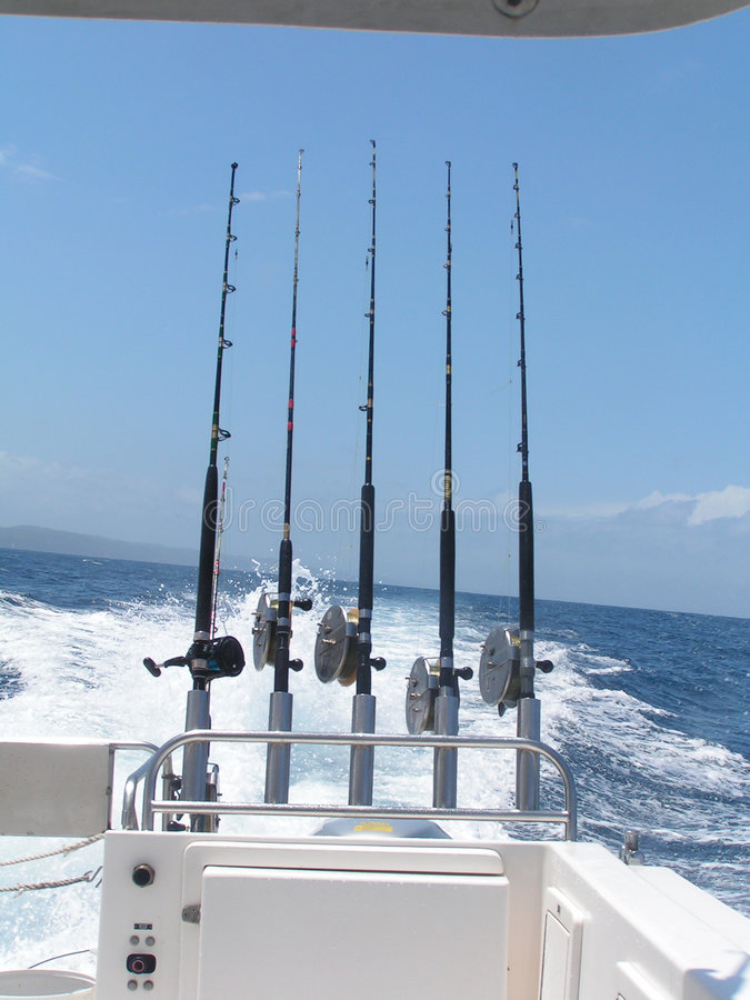 Download 5 Fishing Rods stock image. Image of blue, ocean, australia - 1555607