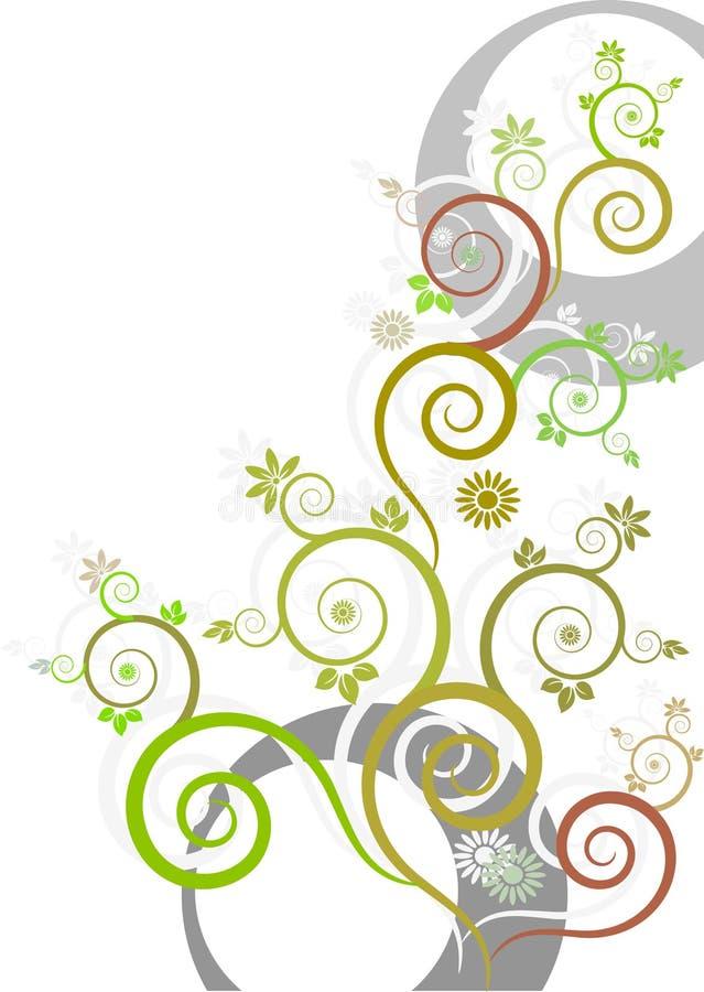 5 florais ilustração royalty free