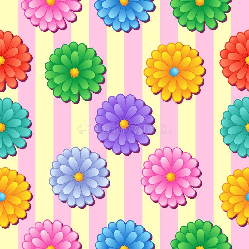 5 flowery άνευ ραφής ανασκόπησης διανυσματική απεικόνιση