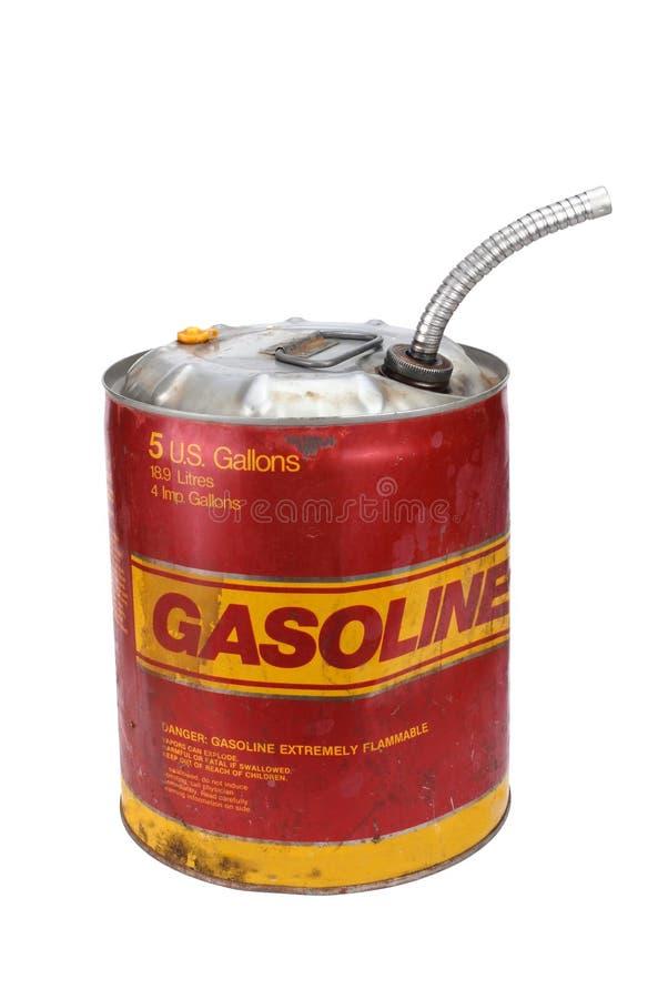 5 gallon gasoline can. 5 gallon gas can with pour spout stock photos