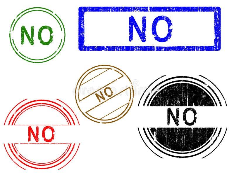 5 Grunge Effekt Büro-Stempel - NR. lizenzfreie abbildung