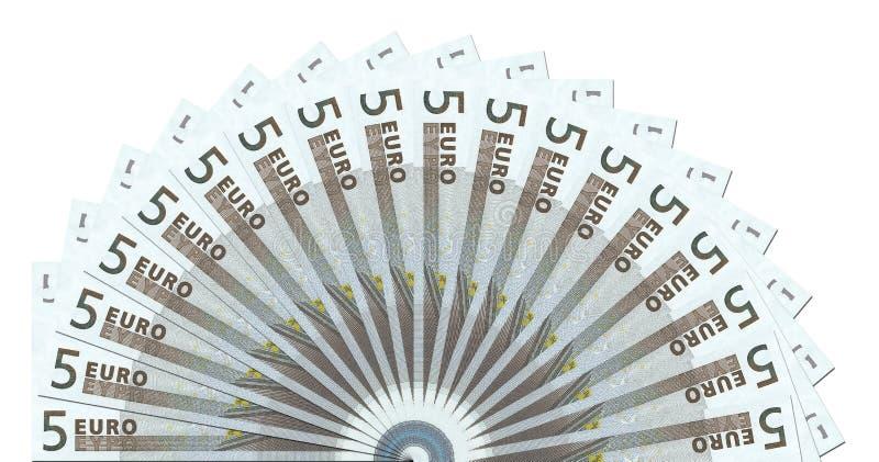 5 het euro Malplaatje van de Cirkel van Nota's Halve royalty-vrije stock foto's